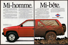 1988 NISSAN Pathfinder SE Vintage Original 2 page Print AD Red car photo Canada