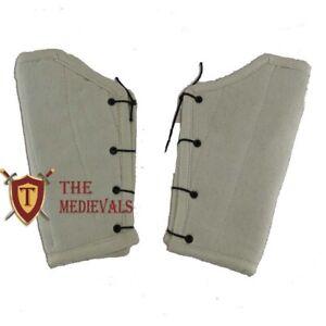 Medieval Cotton BRACERS Gambeson SCA LARP Costume Armor