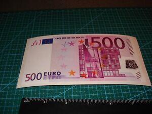Euro FIVE hundred 500 EUR $ Sticker Truck Car BUMPER motorcycle vinyl decal