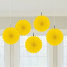 YELLOW BIRTHDAY PARTY MARDI GRAS BABY SHOWER EASTER HANGING FAN FANS!