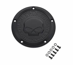 Harley-Davidson Derby Cover Willie G. SKULL 25700742 Negro DYNA SOFTAIL Tour