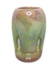 Vintage Pates Pottery Pink Mint Green Lustre Ware Vase   Handles Australian