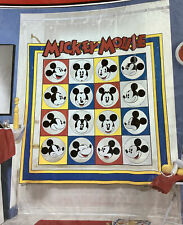 """Walt Disney's Mickey Mouse """"Faces of Mickey� Vinyl Shower Curtain New Vintage"""
