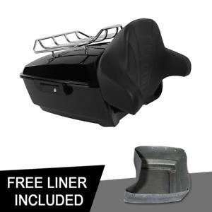King Pack Trunk Backrest Luggage Rack Fit For Harley Tour-Pak Road Glide 14-20