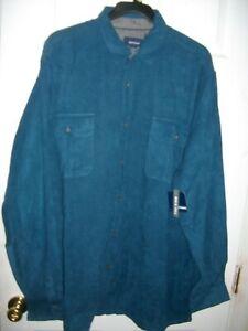 BASIC EDITIONS Micro-fiber Long Sleeve Shirt 3XLT