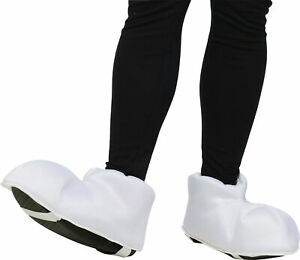 Giant Cartoon Feet Shoe Covers for Halloween Costume Size Adult Puffy White