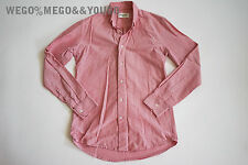 OUR LEGACY 1980-81 Mens Floral Pink Cotton Button Up Shirt size Small 46