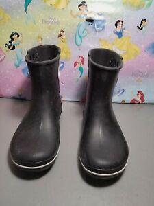 CROCS Jaunt Shorty Black Rain Boots Rubber Boots Womens Size 10