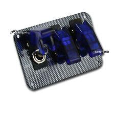 3 Toggle Switch Boat 12 Volt Led Illuminated Cover Led Light Rocker Panel Blue