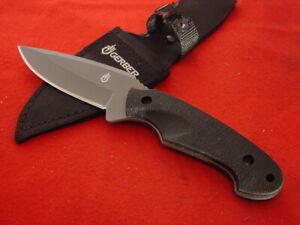 "Gerber 8.75"" satin stainless fixed blade Full tang sheath knife"