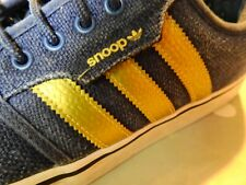 Rare Adidas Ltd Edition Snoop Seeley Dogg Blue Gold Trainers UK10.5 US11 FR45.5