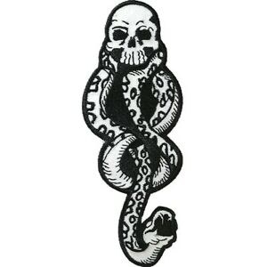 Harry Potter Black And White Death Mark Patch Black