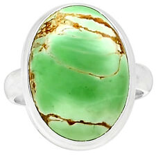 Variscite 925 Sterling Silver Ring Jewelry S.10 VRSR139