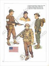 PLANCHE UNIFORM PRINT WWII US Army Colonel Darby Rangers Ecosse Scotland 1942
