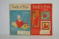 PACK-O-FUN Craft Magazines Lot of 2 Feb Nov 1968 February November Scrap