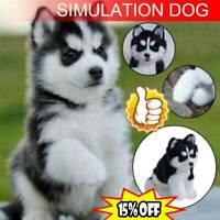 Realistic Husky Dog Simulation Toy Dog Puppy Lifelike Stuffed Toy Gifts