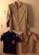 Youth large Boy Scout shirt blue