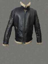 Mens Winter Aviator RAF B3 Real Shearling Sheepskin Leather Bomber Flying Jacket
