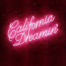 """New California Dreaming Pink Decor Pub Poster Acrylic Neon Light Sign 24""""x12"""""""