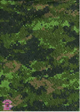 Camo CADPAT Waterproof Blackout Nylon Fabric by Yard Military Grade Camouflage