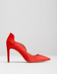 NEW - Boden Wave High Heel Court - AR771 - Beatnik Red Suede (RED)