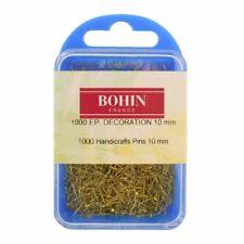 Lot de 1000 epingles Bohin 10 x 0,55 mm pour couture etalagiste decoration