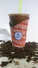 Snug as a mug.Handmade Coffee Cozy.Coffee Sleeve.Reusable. *Mini* Burnt Orange