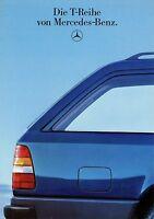 0419MB Mercedes T-Modell Prospekt 6/86 1986 200 250 300 TD Turbo T 230 300 TE