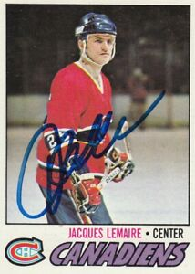 JACQUES LEMAIRE NO:254 AUTHENTIC AUTOGRAPH in TOPPS 1977-78 near mint