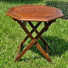 Acacia Octagonal Folding Table Brown VF-4146 NEW