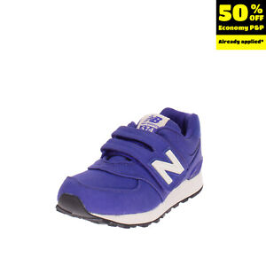 NEW BALANCE 574 Sneakers Size 32.5 UK 13.5 US 1 Purple Logo Patched Low Top