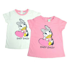 DISNEY DAISY DUCK COTTON T-SHIRT  WHITE or PINK Ages 2 1/2 years