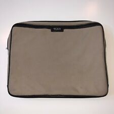 Tumi Laptop Bag Unisex Medium Sized Beige Brown Tablet Business