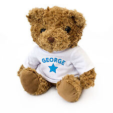 NEW - GEORGE - Teddy Bear - Cute And Cuddly - Gift Present Birthday Xmas