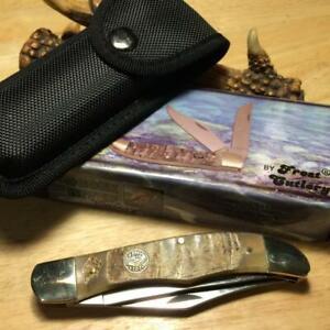 "Frost Ocoee River Rams Horn Folding Hunter 5 1/4"" Pocketknife w/Sheath FOC550RH"