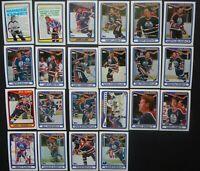 1990-91 Topps Edmonton Oilers Team Set of 22 Hockey Cards
