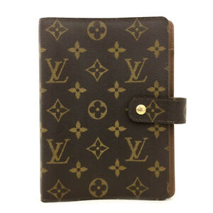 100% Authentic Louis Vuitton Monogram Agenda MM Notebook Cover /70837