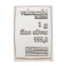 Lingot Valcambi 1g Argent pur 999 / Valcambi 1 Gram Fine Silver 999 Bar