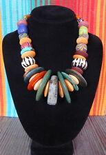 Handmade  Trade Bead necklac Handdrilled PreColumbian Stone , Many Country's