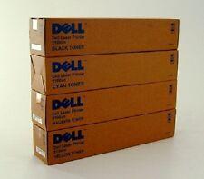 4 x Original Toner DELL 5100 5100cn / GG577 GG578 GG579 HG308 Cartridge