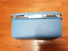 Vintage Train Case Samsonite Royal Montbello II Blue Mirror Luggage Make Up