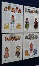 4 Betsy McCalls Paper Doll Mag Page Sheets Portugal Spain Hairdo Apple 1971 1972