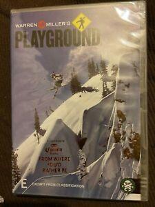 Warren Miller's Playground DVD All Region skiing boarding extreme sport action