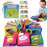 Baby's Educational Intelligence Development Soft Cloth Learn Cognize Books 3pcs
