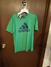 Adidas Boys green w/blue adidas on chest Size L 14-16 NWT Climalite
