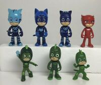 Lot of 7 PJ Mask Figures Just Play Frog Box
