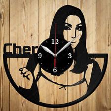 Vinyl Clock Cher Handmade Original Gift Vinyl Clock Art Home Decor