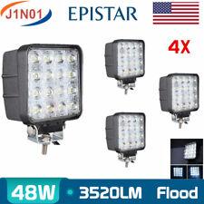 4X 48W LED Work Light Flood Lamp 12V 24V Off-road Driving Truck 4X4WD Boat 6000K