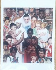 """Norman Rockwell Print """"The Golden Rule"""" 8 x 10"""