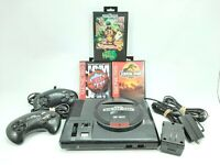 Vintage Sega Genesis 16 Bit Console W/ 2 Controllers & 3 Games -Tested & Working